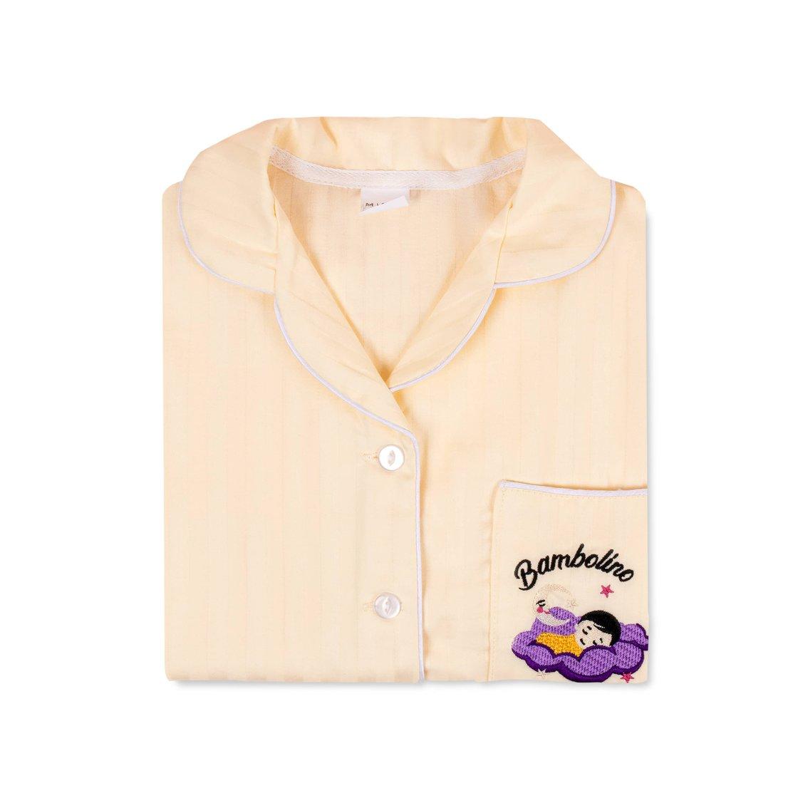 Купить Детская пижама Bambolino, желтая 128, Mixit
