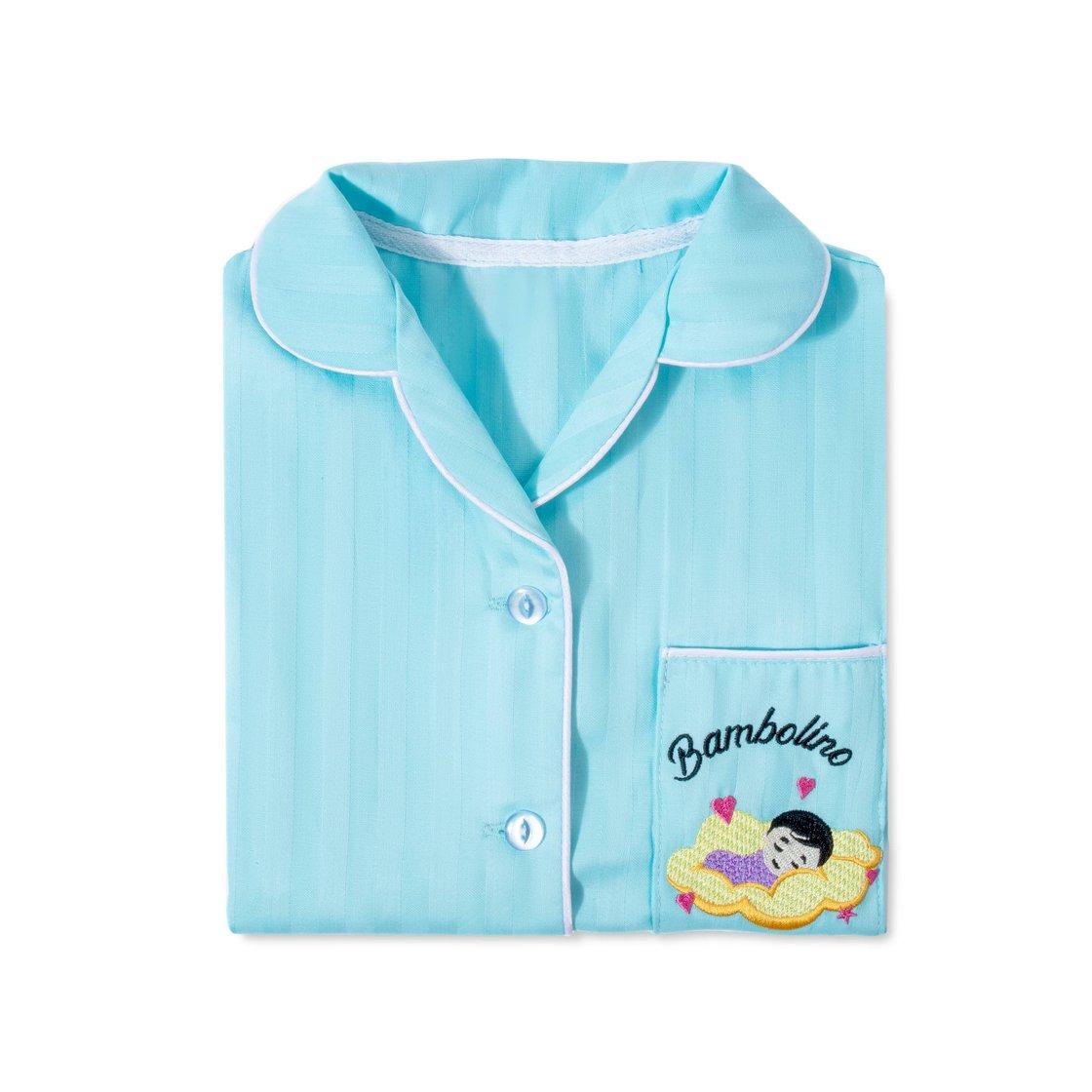 Купить Детская пижама Bambolino, голубая 128, Mixit