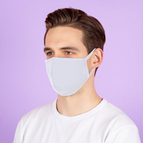 Защитная тканевая маска серого цвета