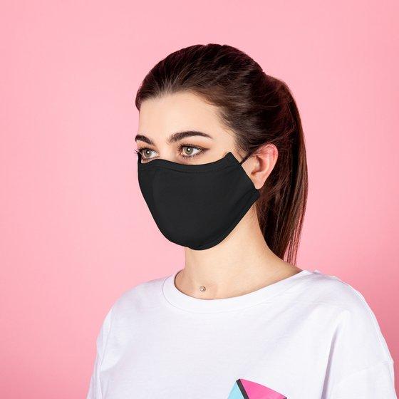 Защитная тканевая маска чёрного цвета
