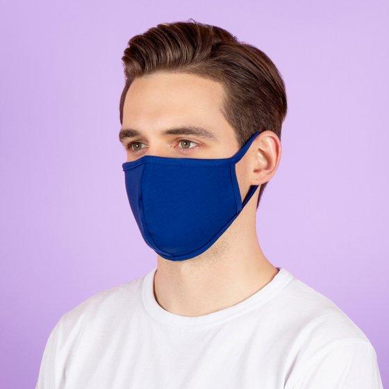 Защитная тканевая маска синего цвета